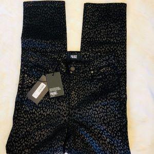 0059f788e31d PAIGE Jeans | Jacqueline Metallic Leopard Noir Black Jean | Poshmark